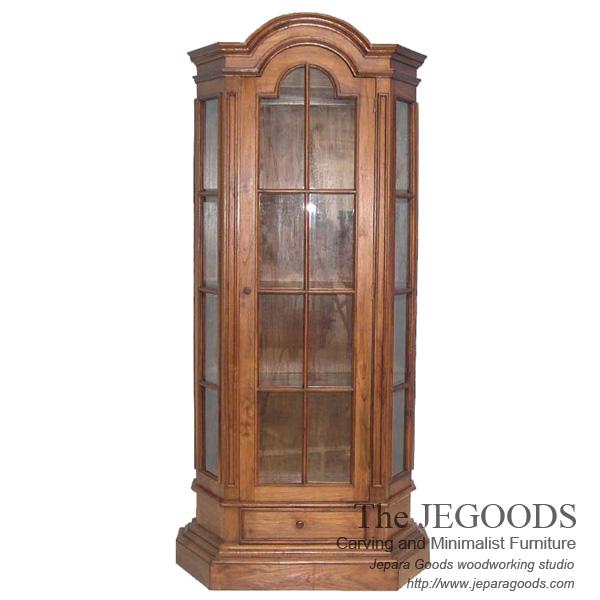 Louis Colonial 1 Door Cabinet Display