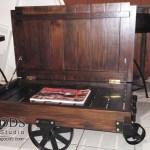 Gerobak Coffee Table Industrial Wheeled Cart