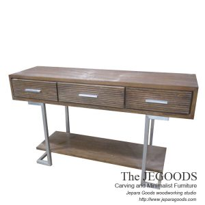 Iron Wood Console Table