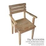 Tri Arm Chair White Wash