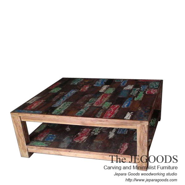 Rustic Boat Painted Coffee Table