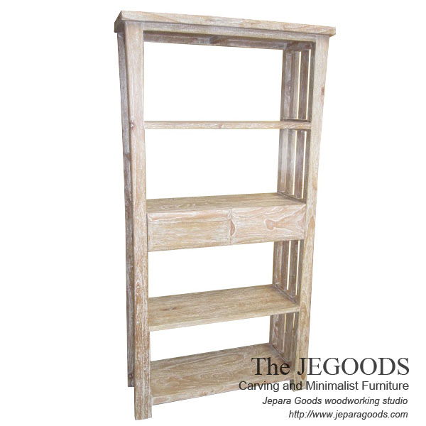 Dua Laci Rack White Wash