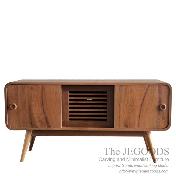 Buffet Radio Style U2013 Vintage Retro Sideboard Teak Furniture Jepara