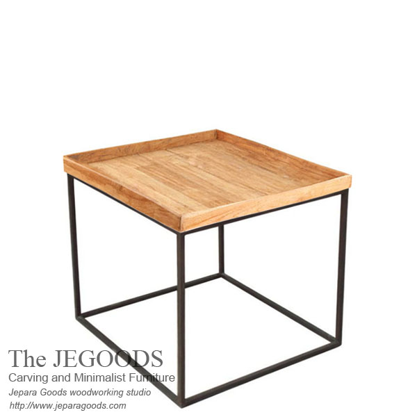 Square Tray Side Table Iron