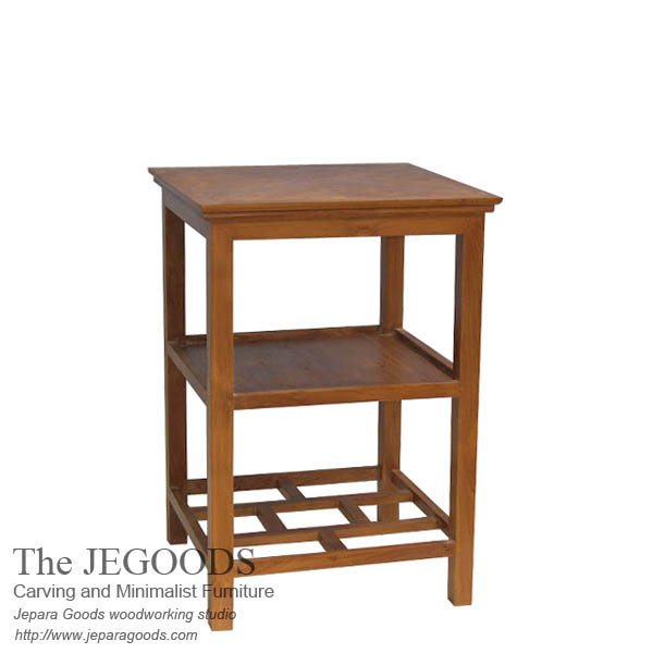 Pesagi End Table Teak Minimalist