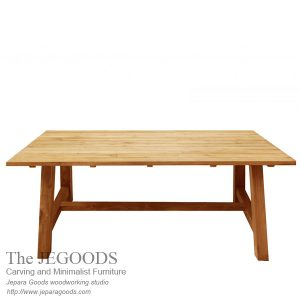 187 Kebun Teak Dining Table Outdoor Living Style Furniture
