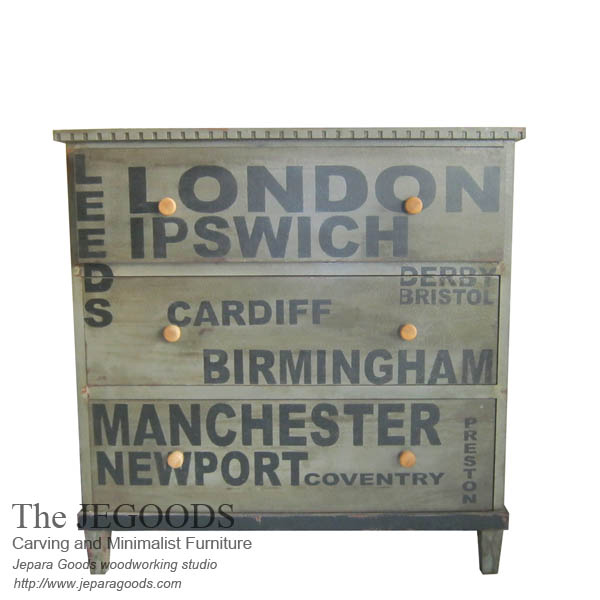 Typography Chest of Drawer