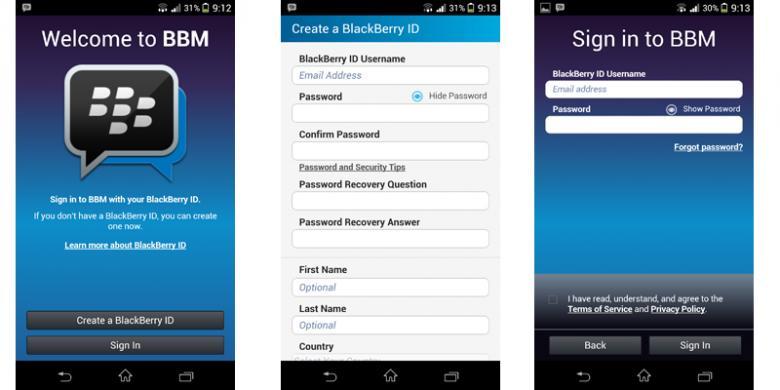 Cara Registrasi BBM di HP Android Mudah