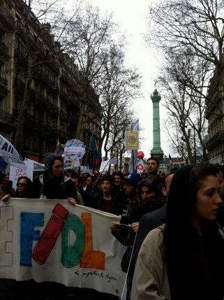 On rue Saint-Antoine, finally leaving Bastille