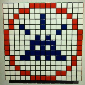 Invader. ROR. Rubik's Cubes. 2009. Private collection.