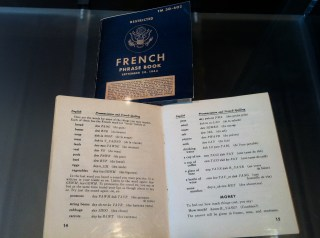 a French phrase book used by an American soldier