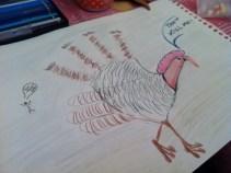 A hand turkey on the run!