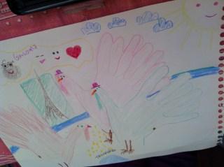 Even MORE hand turkeys promenading around Paris!