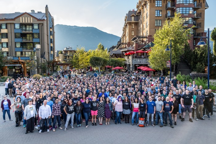 Most of Automattic at our company meetup in Whistler, BC in 2016