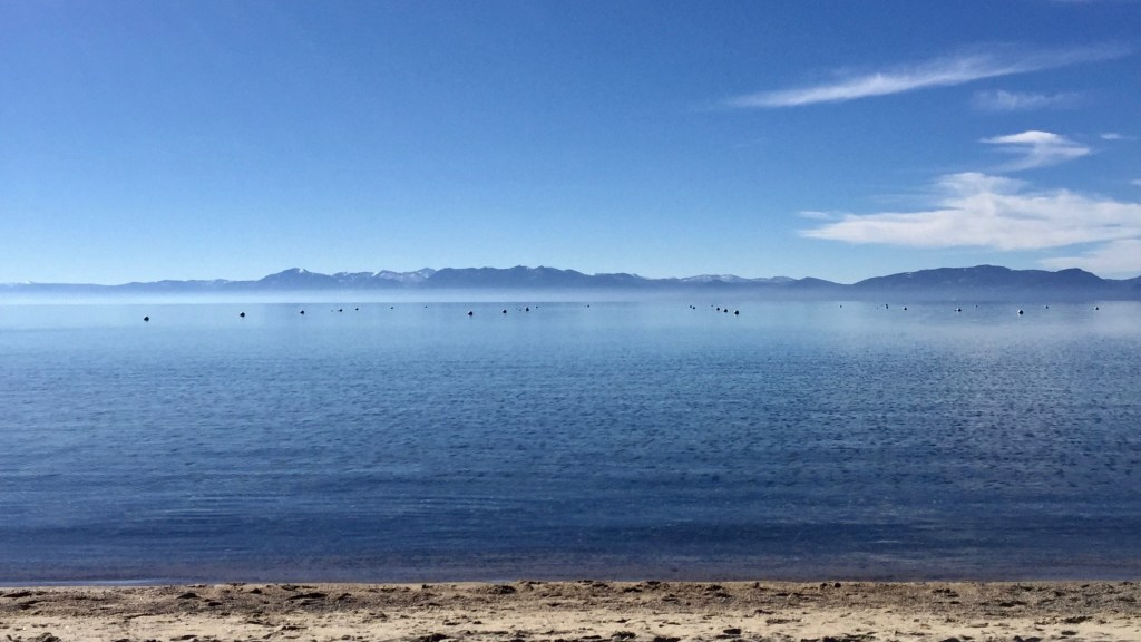 A photo from our trip to Lake Tahoe