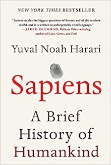 A cover of the book Sapiens - A brief history of humankind