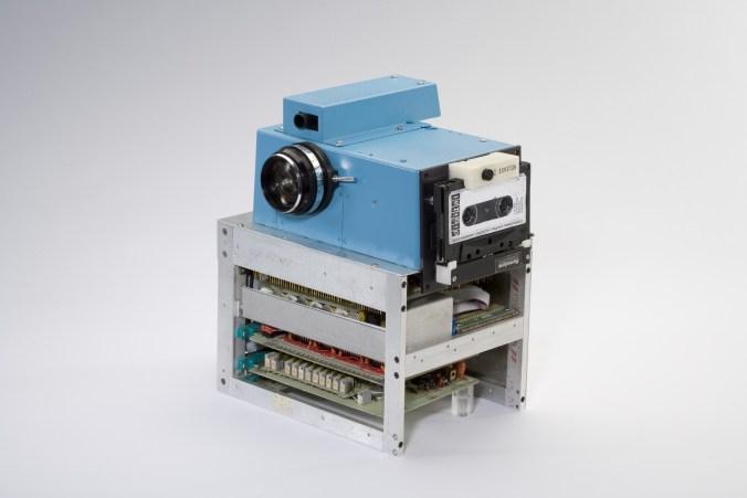 The first digital camera created by Sasson at Kodak