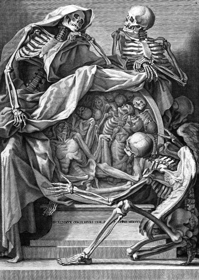 Medieval Drawing of skeletons