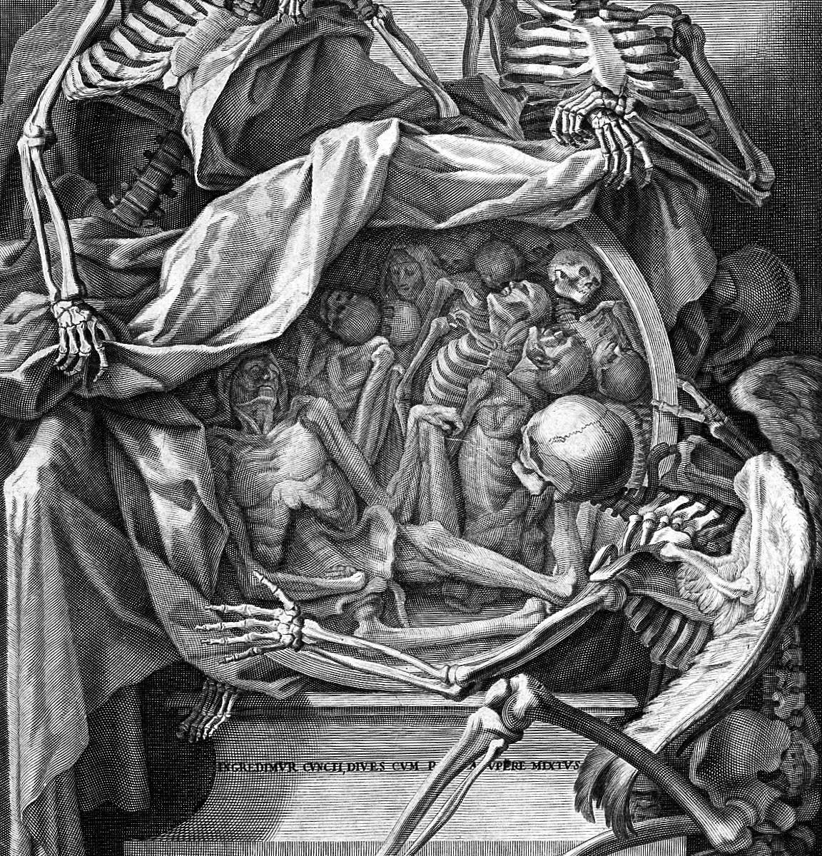 Medieval Drawing of skeletons