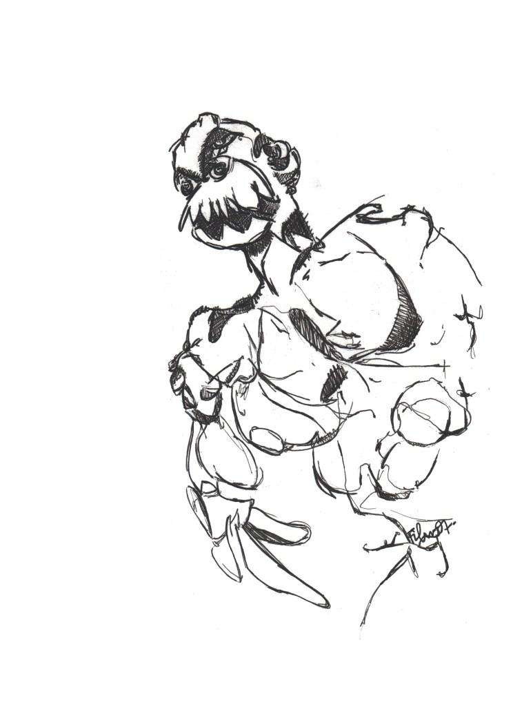 l'homme énervé par Jeremie Francblum artiste peintre paris