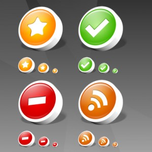 Round RSS icon