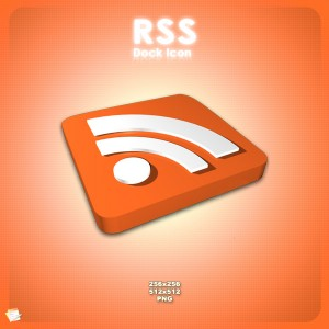 3D RSS dock icon