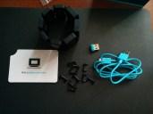 Myo, dongle, and Micro USB cable