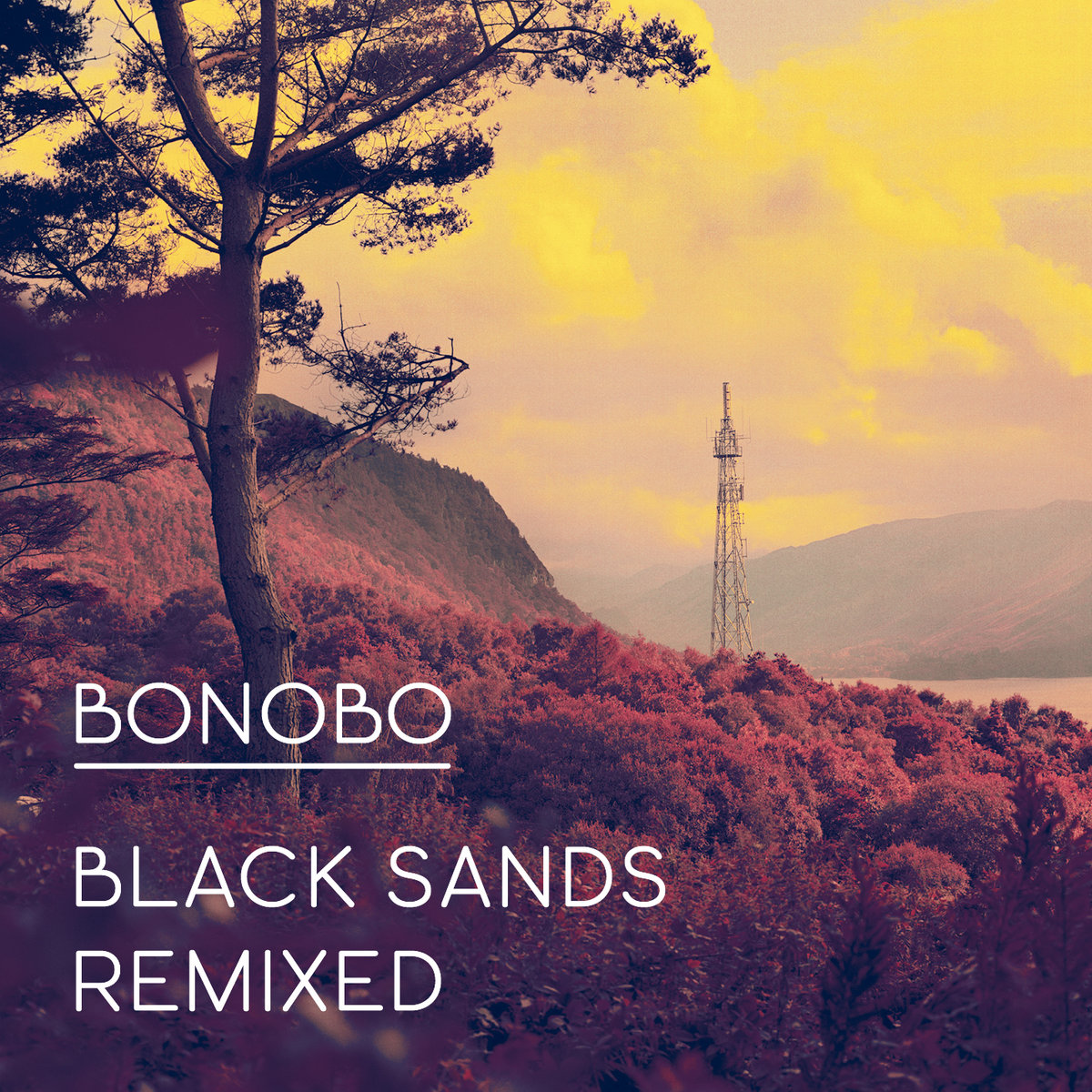 Album cover for Bonobo's Black Sands album