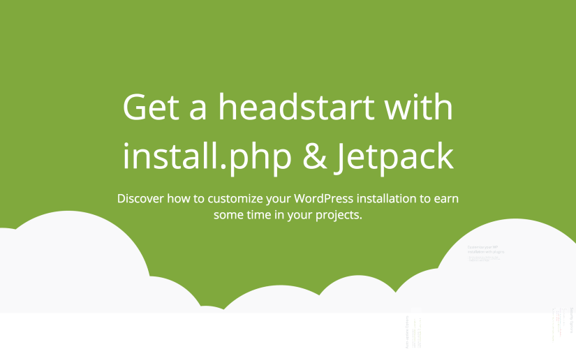 Get a headstart with install.php & Jetpack – Timișoara WordPress Meetup