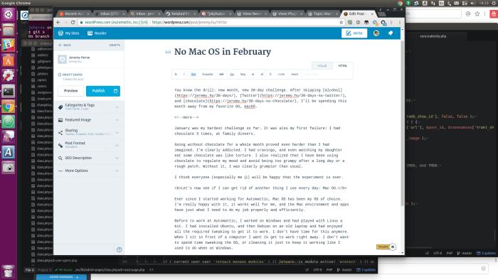 Using Ubuntu in February