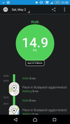 Walking a Lot!