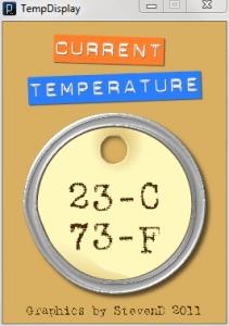 Sexy Temperature Display