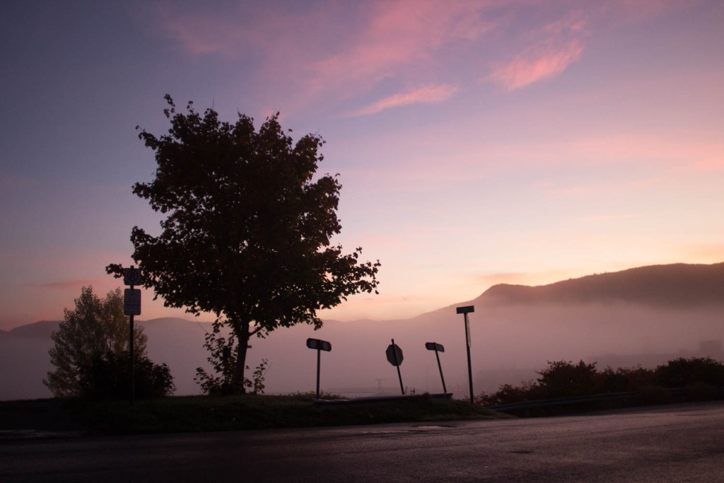 Humber road sunrise. Corner Brook Newfoundland