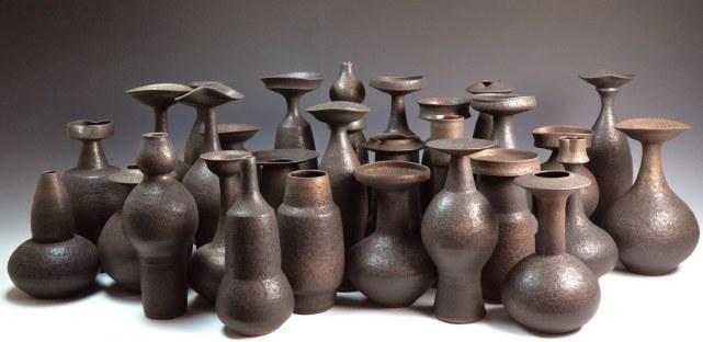 stock photo black vases