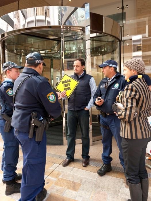 Police AGL protest