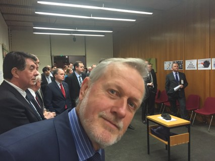 Shooters MP Robert Borsak photobombs