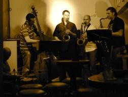 The Three Tenors: Fouad (drums), Makram Aboul Hosn (bass), Tom Hornig, me and Nidal Abou Samra