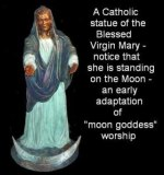 The Roman Catholic church has  a strong history in adding pagan beliefs which is not biblical . People have been led astray for years but NOW is the time for people to realize that worshiping anyone other than Jesus Christ will have you end up in hell.