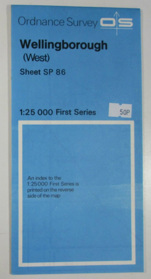 Old 1983 OS Ordnance Survey 1:25000 First Series Map SP 86 Wellingborough (West) OS 1:25 000 First Series Maps 2