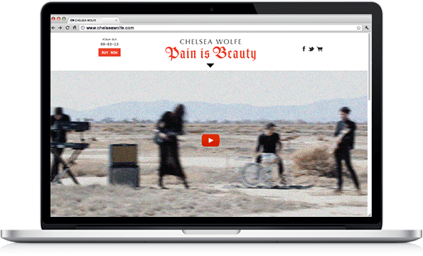Chelsea Wolfe - Interactive Design - Parallax Scrolling