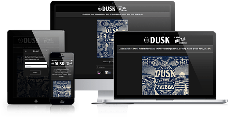 The Dusk Retail Collective - Responsive Design