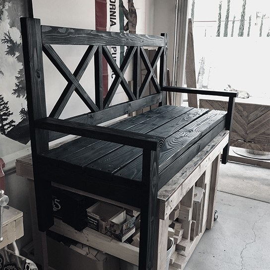 Jeremy Schuler - Woodworking - Rustic Porch Bench Assembly