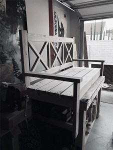 Jeremy Schuler - Woodworking - Rustic Porch Bench