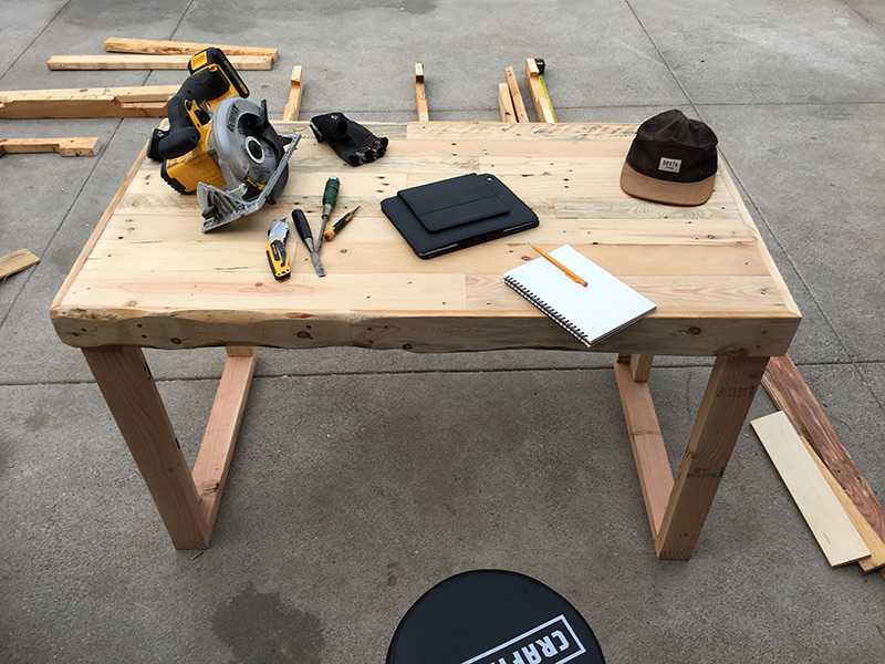 Orange County, CA Woodworking - Upcycled Rustic Pallet Desk