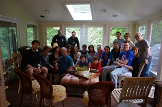 Wonderful pre-ride family reunion dinner with the Montreal cousins