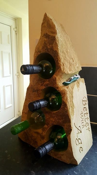 natural stone wine rack
