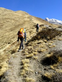 Walking to Base Camp