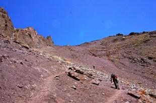 Up the highest pass of the trek