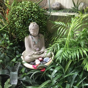 Buddha Sits At The Steps Of The Healing Space
