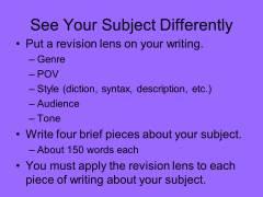 Ways of Seeing Presentation